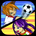 Yugi và Runa đá bóng
